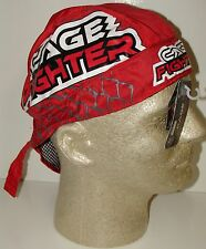 Red Cage Fighter Real Men Don't Tap Out Du Rag SWEATBAND Headwrap Skull Cap