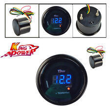"Car Motor Auto 2"" 52mm Blue Digital LED Elec 0-9999 RPM TACHOMETER TACHO GAUGE"