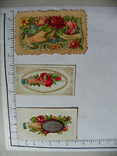 """3 NAME CARDS; HAND ROSES """"WITH MY LOVE'; HAND ROSES LIFTS TO REVEAL NAME 1323"""