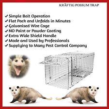TRAP HUMANE POSSUM CAGE LIVE ANIMAL CATCH FERAL CAT RABBIT HARE BIRD BAIT RAT