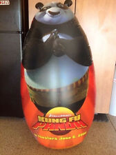 5 Foot TALL Fighting Kung Fu Panda Movie Promo Kit w/ Sealed Movie TRAILER DVD