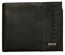 "BRAND NEW IN GIFT BOX BILLABONG ""EMPIRE"" MENS BLACK LEATHER TRI FOLD WALLET BNWT"