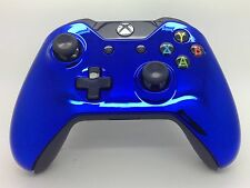 Xbox One CHROME Jewelry BLUE Controler Shell Case housing - Top Shell