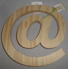 """At Symbol Letter-Solid Wood 10""""x10""""-Free Standing- Decorative @ Sign Character-2"""