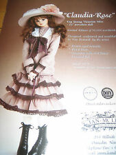 Jan McLean CLAUDIA ROSE Doll MAGAZINE Ad ONLY ~Advertisement