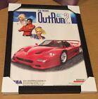 Original Sega Outrun 2, A4 Framed Arcade Flyer