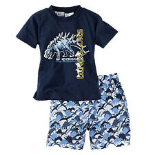 Newborn Baby Boys Toddler T-shirt Tops&Shorts Trousers Clothes 2pcs Outfits Set