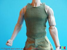 Military Green Color Vest (1/6 Figure Green undershirt sleeveless)