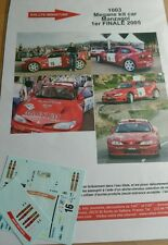 PROM0 Decals 1/24 réf 1003 MEGANE KIT CAR MANZAGOL 1ER FINAL 2005
