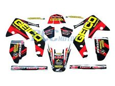 TEAM GEICO GRAPHICS DECAL STICKERS KIT HONDA CRF150R CRF LIQUID COOLED 9 DE54