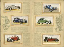 CIGARETTE CARD ALBUM - MOTOR CARS - Cpt. 1936
