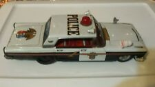 #Antique Tin Toy# Taiyo Japan 1963 Ford Galaxie Police Car great clean condition