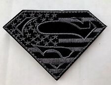 SUPERMAN AMERICAN FLAG Military Airsoft Tactical Black Ops VELCRO® Morale Patch