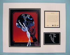Atlanta Falcons 1994 Matted Football Helmet Lithograph Print by Kelly Russell