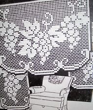 6442 Vintage Filet GRAPEVINE Chair Set Pattern to Crochet (Reproduction)