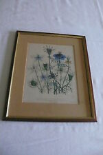 "Original -Litho (handkoloriert) aus ""The ladies flowergarden "" um 1850"