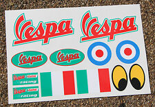 VESPA SCOOTER style sticker decal set Italian Flag Piaggio