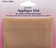 Non-Stick Applique Pressing Mat PTFE TEFLON RE-USABLE Ironing cloth Hemline H855