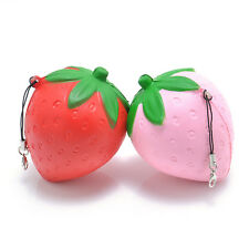 1PCS Strawberry Squishy Candy Scented Slow Rising Charms Phone Straps Toy 8CM