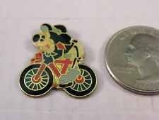 OLD VINTAGE WALT DISNEY MICKEY MOUSE RIDING BIKE PIN