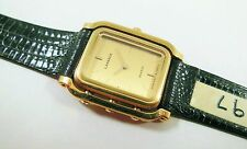 Lassale by Seiko Gold Tone Base Metal 2F50-0970 Lizard Sample Watch NON-WORKING