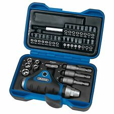 Draper Tools / Workshop 35 Piece Ratchet Screwdriver, Socket And Bit Set - 05586