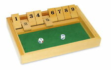 Shut The Box Wooden Traditional Pub Dice Family Kids Childrens Game