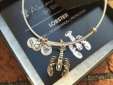 NEW BOX & CARD ALEX and ANI LOBSTER Charm Russian SILVER Bangle BRACELET