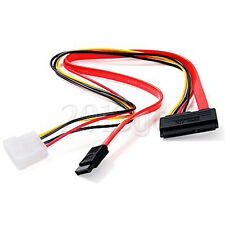 15+7 Pin Power Data To 4 Pin IDE Sata Cable F Hard Drive New PC Laptop 50CM YG