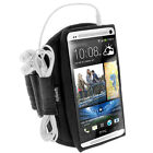 Black Sports Armband for HTC One M7 Android Smartphone Gym Running Jogging 1