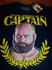THE HANGOVER 2 ZACH GALIFIANAKIS CAPTAIN T-Shirt SMALL NEW w/ tag