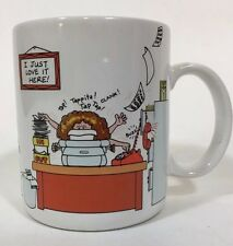 Hallmark How To Get Along At The Office Coffee Mug Cup Co-Worker 1984 Typewriter