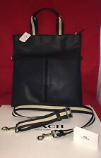 NWT Coach Mens Charles Navy Blue Leather Foldover Tote - 54759  ($475)