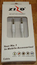 Iphone 3 4 4S 5 Auxillary Cable 3.5mmx3.5mm Stereo Male to Male Gold Plated 3ft.