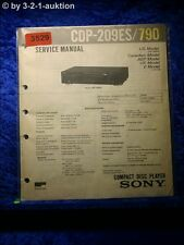 Sony Service Manual CDP 209ES / 790 CD Player (#3529)