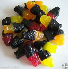 500G Dutch Sweet Liquorice & Fruit Fish Gums GLuten Free Vegetarian