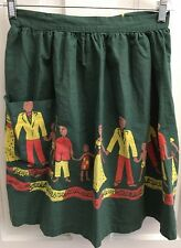 Vintage Waist APRON South Pacific Polynesian Country Club Holding Hands Green