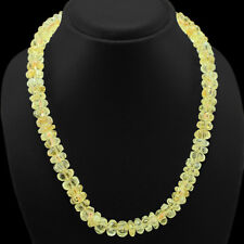 EVER 435.00 CTS NATURAL SHINING CARVED YELLOW CITRINE BEADS NECKLACE  - GEM EDH
