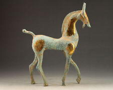 COPPER COLLECTION HANDCRAFTED CARVED OLD HORSE STATUE DECORATION