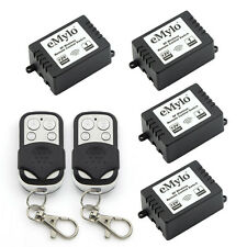 RF12V 4X1 Channel Wireless Remote Control Light Switch Kit & Two Transmitter