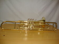 SMART DEAL! BRAND NEW BRASS FINISH Bb VALVE TRUMBONE WITH FREE HARD CASE+M/P