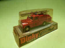 DINKY TOYS 282 LAND ROVER FIRE APPLIANCE - RARE SELTEN - GOOD IN BLISTER