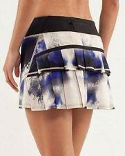 LULULEMON~SWIFT~MILKY WAY *RUN: PACESETTER SKIRT* PLEATED RUFFLES SKORT~10~RARE