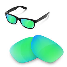Polarized Replacement Lenses for Rayban 2132 new wayfarer 52 size sapphire green