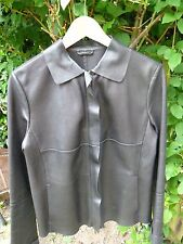 S MaxMara ladies jacket size 42/italian/medium/leather/black/kozanaja/RRP£350