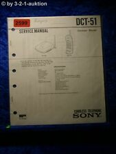 Sony Service Manual DCT 51 Cordless Telephone (#2599)