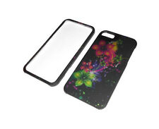 New Rigid Plastic 2-Piece Flower Iphone 5 5S Case Super Fast Shipping
