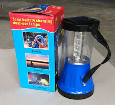 Led Lantern Light Solar Camping Outdoor Lamp Portable 12+1 LEDs car & USB charge