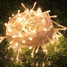 50ft LED Warm White String Fairy Tree Lights Party Christmas Outdoor Indoor