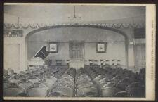 Postcard CANFIELD Ohio/OH  Normal College Chapel Auditorium Interior view 1907